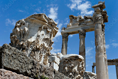 View of the ancient ruins in Ephesus, Turkey