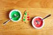 Schalen mit Zuckerguss