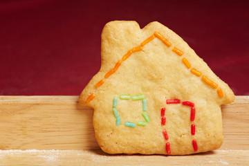 Keks als buntes Haus