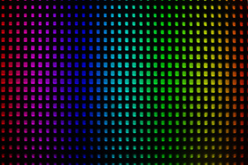 Abstract rainbow mosaic of background.