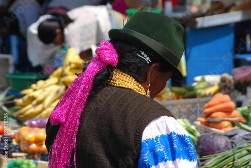 Keuken foto achterwand Boodschappen Marché d'Otavalo, Equateur