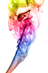 Gradient colored Abstract fume shape