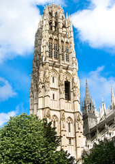Notre Dame cathedral Tower in Rouen