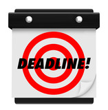 Deadline - Hanging Wall Calendar
