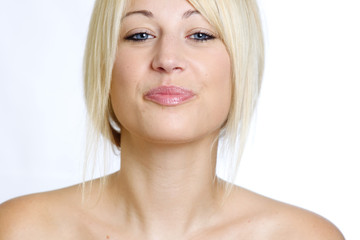 Beautiful Blond Woman Headshot