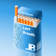 detailed vector pack of cigarettes