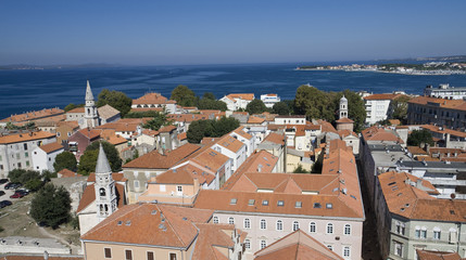 Zadar cityscape: view from the bell-tower.