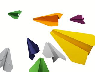 Color paper planes