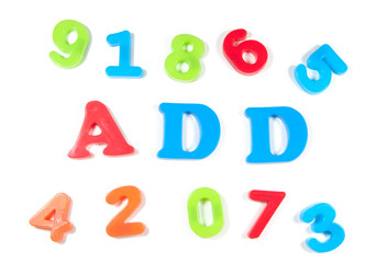 add and numbers in fridge magnets