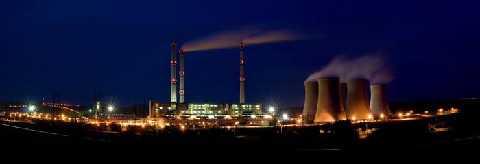 Power plant by night - Pocerady