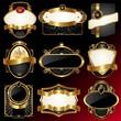 Decorative ornate golden vector frames