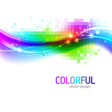 Fototapety Abstract vector background with colorful wave