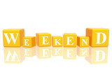 weekend in 3d cubes poster