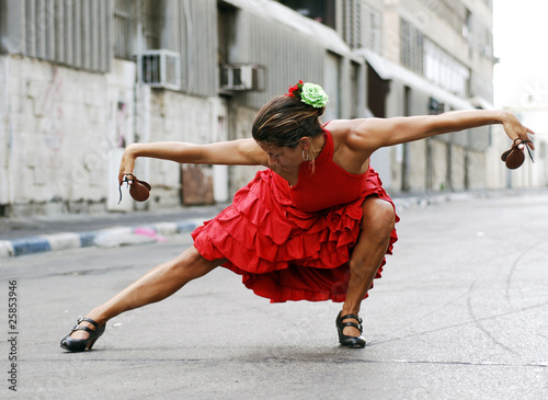 Flamenco Dancer with castanets - 25853946