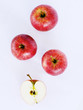 red apples on white