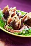 Figs with prosciutto,cheese and balsamic vinegar