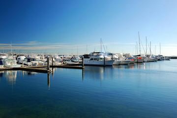 Marina Bay with Clear Blue Sky