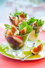 salad with fruits and cheese