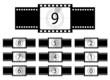 Film countdown illustration - vector