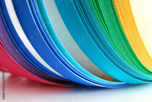 paper strips rainbow