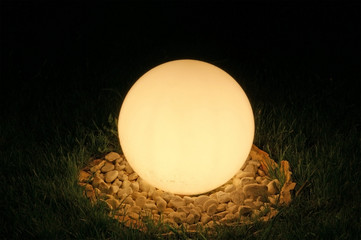 Big street lamp in the form of a ball