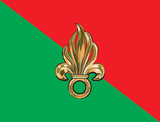 French foreign legion flag poster