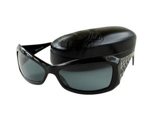 Women's sunglasses with dark case