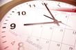 Clock face and calendars