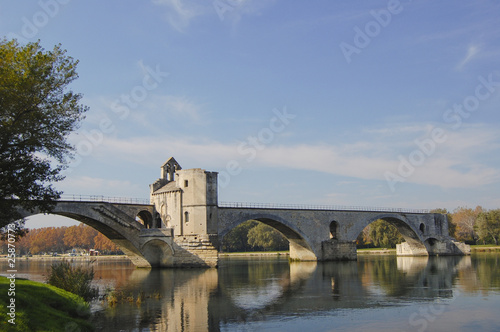 Pont St. Benezet on the Rhone River at Avignon France
