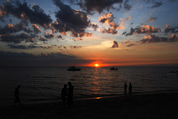 Pattaya Sunset  Dark View