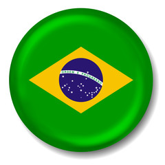 3D Brazil Flag Button
