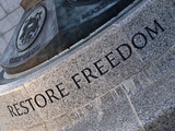 Restore Freedom Carving poster