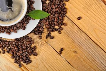 Fototapeta z czarną kawą