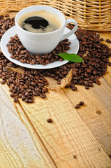 Fototapeta kawa z pianką w filiżance