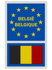 EU signs series - Belgium (in Dutch / French), photo realistic,