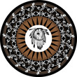 native americans mandala vector graphics - 25876732