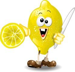 Limone Cartoon-Lemon-Vector