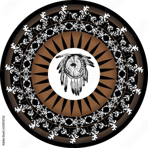 grafika wektorowa mandali Native American