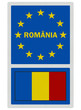 EU signs series - Romania (in Romanian language), photorealistic