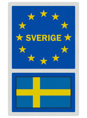 EU signs series - Sweden (in Swedish language), photo realistic,