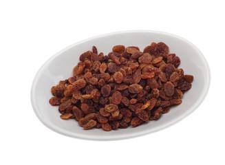 raisins isolated over white background