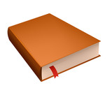 Brown diary book with red bookmark