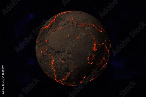 erde ohne wasser und pflanzen afrika europa magma von visdia lizenzfreies foto 25883307 auf. Black Bedroom Furniture Sets. Home Design Ideas