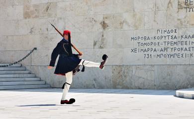 Greek guard (evzones) in Athens, Greece