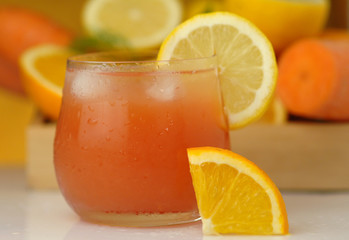 Orange lemon carrot juice
