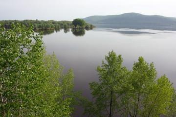 Spring river flood