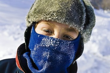 Child Wearing Winter Accessories