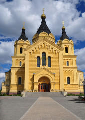 Vintage Alexander Nevsky Cathedral in Nizhny Novgorod.