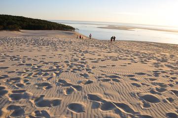 coucher de soleil sur la dune du pyla 14