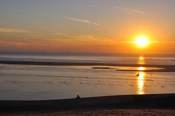coucher de soleil sur la dune du pyla 9